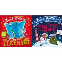 David Walliams The Slightly Annoying Elephant And The First Hippo On The Moon Children's Book, Pack of 2