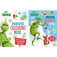 The Grinch Movie Colouring Book and Sticker Book, Pack of 2