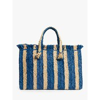 shop for John Lewis & Partners St Tropez Stripe Tote Bag at Shopo