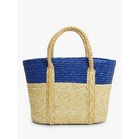 shop for John Lewis & Partners Ava Raffia Colour Block Bag at Shopo