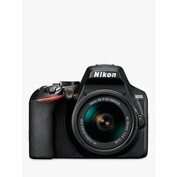 Nikon D3500 Digital SLR Camera with 18-55mm Lens, HD 1080p, 24.2MP, Bluetooth, 3 LCD Screen