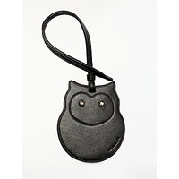 Coach Owl Leather Ornament, Black