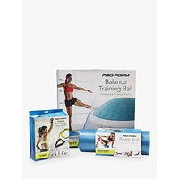 ProForm Balance Ball, 18 Foam Roll, 5-Level Resistant Tube Kit & Fitness Mat