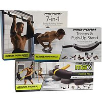 ProForm 7-in-1 Home Body Building Kit, Push Up Stand and Adjustable Power Pack Set