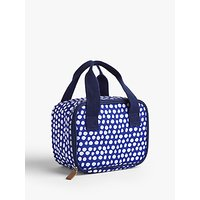 John Lewis & Partners Summer Party Spot Print Personal Picnic Cooler Bag, 3.5L, Blue