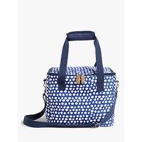 John Lewis & Partners Summer Party Spot Print Family Picnic Cooler Bag, 16L, Blue/White