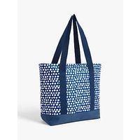 John Lewis & Partners Summer Party Spot Print Cooler Tote Bag, 14.5L, Blue/White