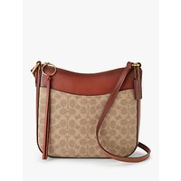 Coach Signature Chaise Cross Body Bag, Tan Rust