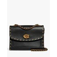 shop for Coach Rivets Parker Stud Shoulder Bag, Black at Shopo