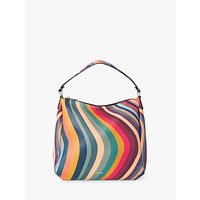 Paul Smith Mini Leather Zip Hobo Bag, Swirl