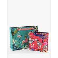 Sara Miller Green Flamingo Gift Bag