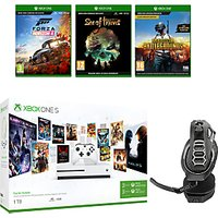 Microsoft Xbox One S Console, 1TB, with Wireless Controller and PlayerUnknown's Battlegrounds, Forza Horizon 4, Sea of Thieves and RIG 400HX Wireless Gaming Headset Bundle
