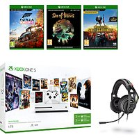 Microsoft Xbox One S Console, 1TB, with Wireless Controller and PlayerUnknown's Battlegrounds, Forza Horizon 4, Sea of Thieves and Turtle Beach Ear Force Stealth 700 Gaming Headset Bundle