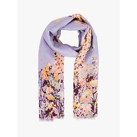 Powder Spring Hare Print Scarf, Lilac