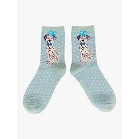 Powder Dalmation Ankle Socks, Sky Blue/Multi
