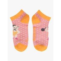 Powder Westie Dog Strongman Trainer Socks, Pink/Multi