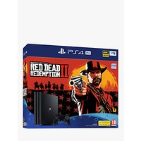 Sony PlayStation 4 Pro Console, 1TB with DUALSHOCK 4 Controller and Red Dead Redemption 2 Bundle