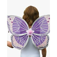 Travis Designs Fairy Glitter Wings and Wand Children's Costume, Purple