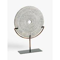 John Lewis & Partners Large Etched Disc Sculpture, H49cm