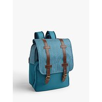 John Lewis & Partners Modern Country 4 Person Cooler Backpack, 10L, Blue