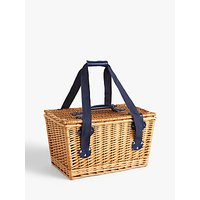 John Lewis & Partners Modern Country Floral Willow Picnic Hamper, 24L, 2 Person