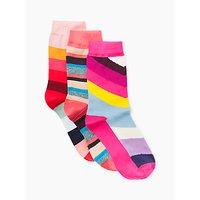 Paul Smith Swirl Stripe Ankle Socks, Pack of 3, Multi