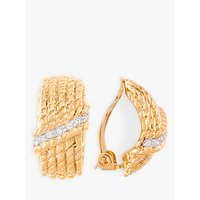 Image of Susan Caplan Vintage Nina Ricci 22ct Gold Plated Demi-Hoop Clip-On Earrings, Gold