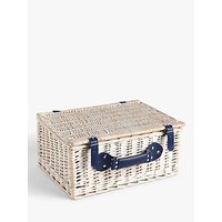 John Lewis & Partners Striped Willow Picnic Hamper, 4 Person