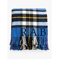 Jonny's Sister Personalised Check Wool Blanket, Blue