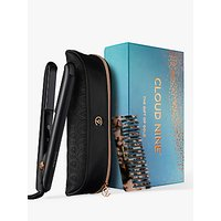 Cloud Nine The Gift of Gold Touch Iron Hair Straightener Gift Set, Black/Rose Gold