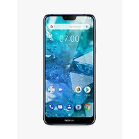 "Nokia 7.1 Smartphone, Android, 5.8"", 4G LTE, SIM Free, 32GB, Blue"