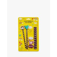 Fourth Wall Brands Unicorn Dreams Pencils with Eraser Toppers, Pack of 5