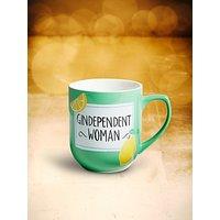 John Lewis & Partners Gindependent Woman Mug, 330ml, Green/Multi