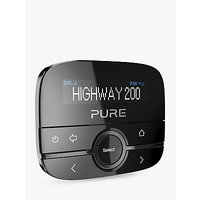 Pure Highway 200 In-Car DAB+ Radio and Audio Adapter, Black