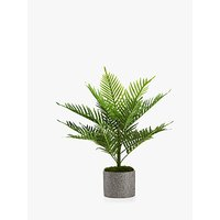 Peony Artificial Palm in Grey Pot