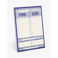 Knock Knock Pro/Con Notepad