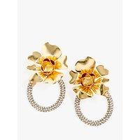 J. Crew Flower & Crystal Door Knocker Earrings, Crystal