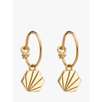 Rachel Jackson London Textured Hexagon Hoop Earrings, Gold