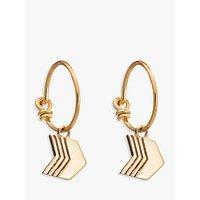 Rachel Jackson London Arrow Hoop Earrings, Gold