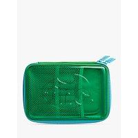 Tinc Transparent Hardtop Pencil Case, Green/Blue