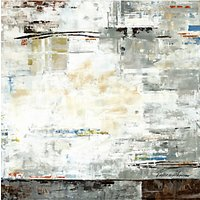 Valeria Mravyan - Zone I Canvas Print, 100 x 100cm, Grey