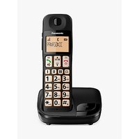 Panasonic KX-TGE110EB Digital Cordless Telephone with Nuisance Call Blocker, Single DECT