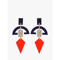 shop for Toolally Half Moon Drop Earrings, Chilli/Multi at Shopo