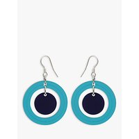 shop for Toolally Dots Drop Earrings, Azure/Navy at Shopo