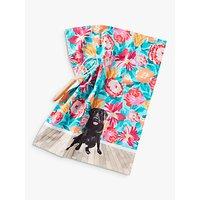 Anthropologie Jay McClellan Floral Mae Dog Tea Towel, Multi