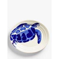John Lewis & Partners Harbour Oval Serving Platter, White/Blue, L36cm
