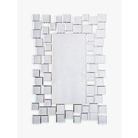 shop for Brielle Rectangular Mirror, 89 x 60cm, Silver at Shopo