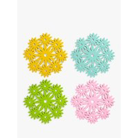 John Lewis & Partners Floral Felt Placemats, Assorted, Set of 4