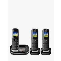 Panasonic KX-TGJ423EB Digital Cordless Telephone with Nuisance Call Blocker and Answering Machine, Trio Dect