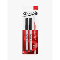Sharpie Ultra Fine Black Marker, Pack of 2